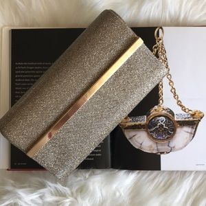 Bare minerals evening clutch bronze gold metallic